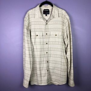 Old Navy Ivory Grey Vintage Flannel Button Shirt